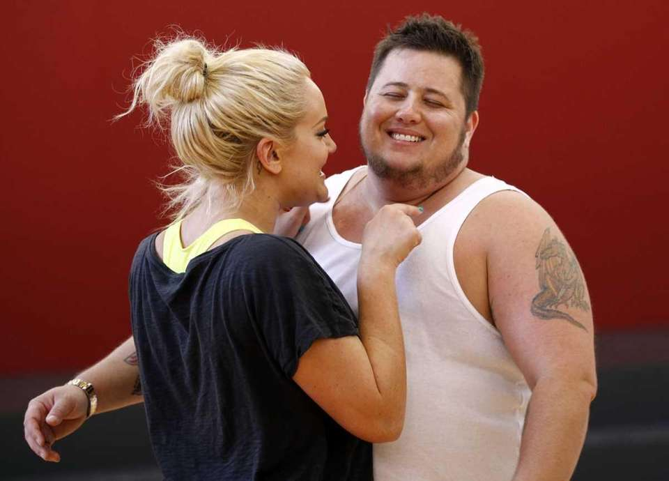 Chaz Bono, right, and his dance partner Lacey