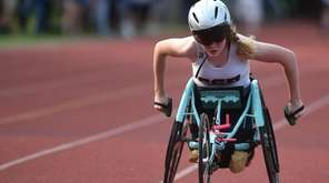 Sarah Bolton of Cold Spring Harbor nears the