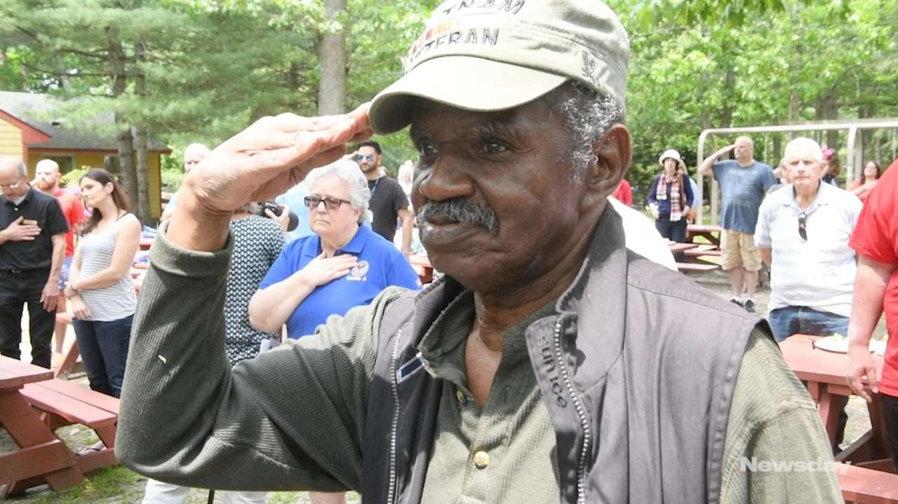 About 200 veterans and their families gathered from