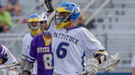 Max Kruszeski of Mattituck/Southold reacts after scoring a