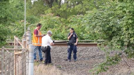 MTA police and Freeport police investigate on Saturday