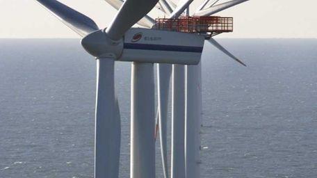 Wind turbines at the Horns Reef wind farm
