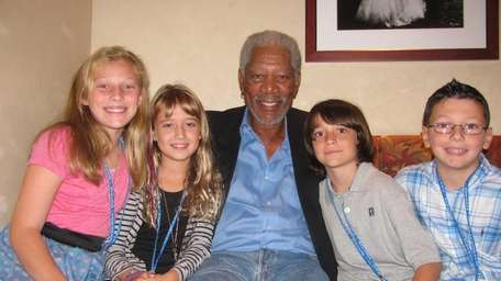 Actor Morgan Freeman who stars in the new