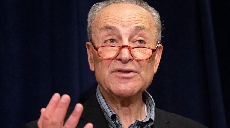 Senate Minority Leader Chuck Schumer (D-N.Y.) in May.