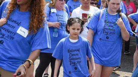 "Cancer survivor Cianna Tunstall, 7, at the ""Parade"