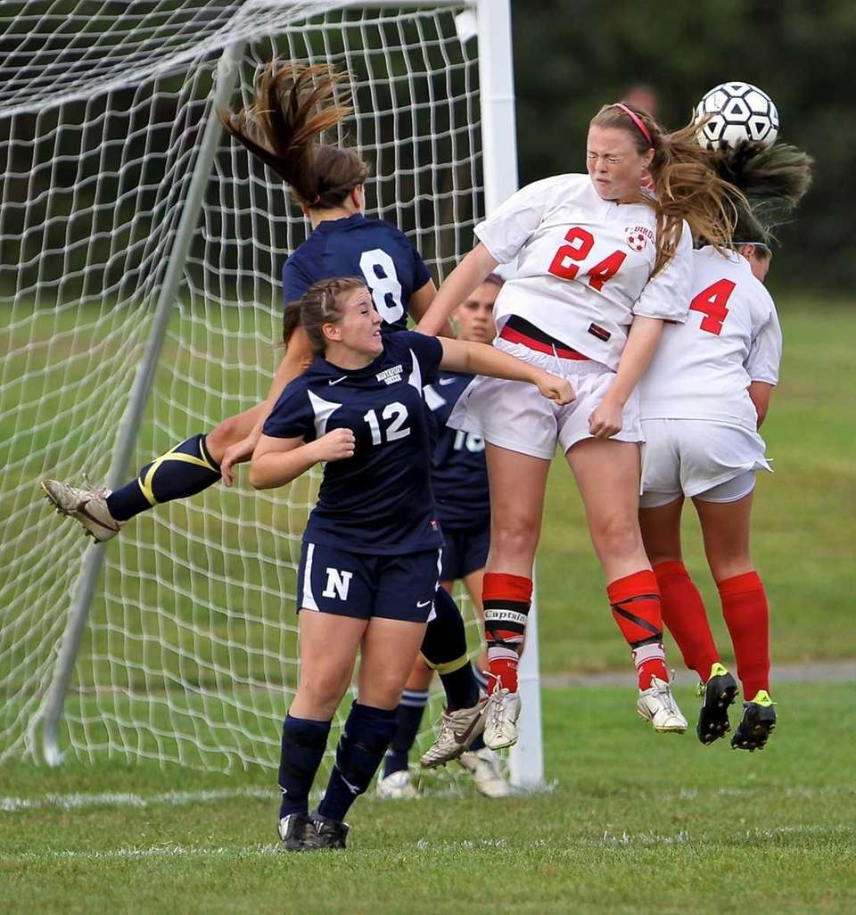 Connetquot's JoJo Murino #24 goes up for the