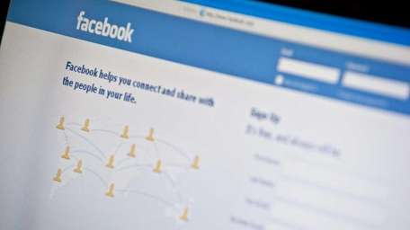 A file photo of Facebook's homepage. The social