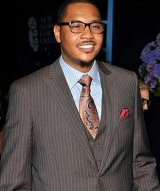 NBA player and evening honoree Carmelo Anthony attends