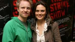 David Hornsby and Emily Deschanel attend The Strike