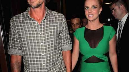 Jason Trawick and Britney Spears attends her UK