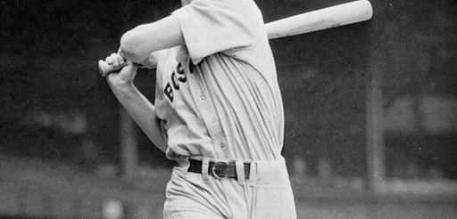 """TED WILLIAMSBaseball's last .400 hitter, """"The Splendid Splinter"""""""