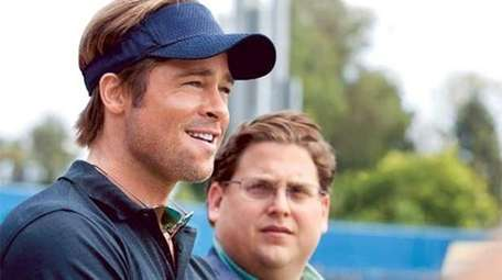 Brad Pitt, left, and Jonah Hill star in