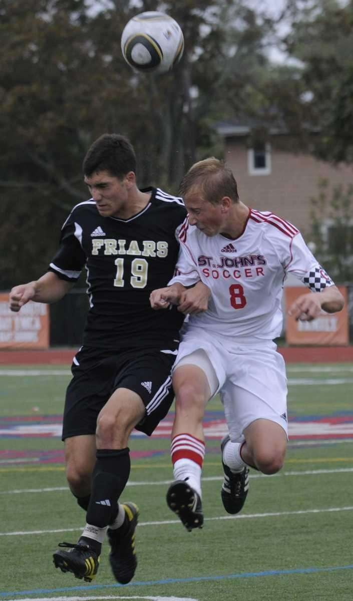 (L) St Anthony's #19 Marc Femiano and (R)