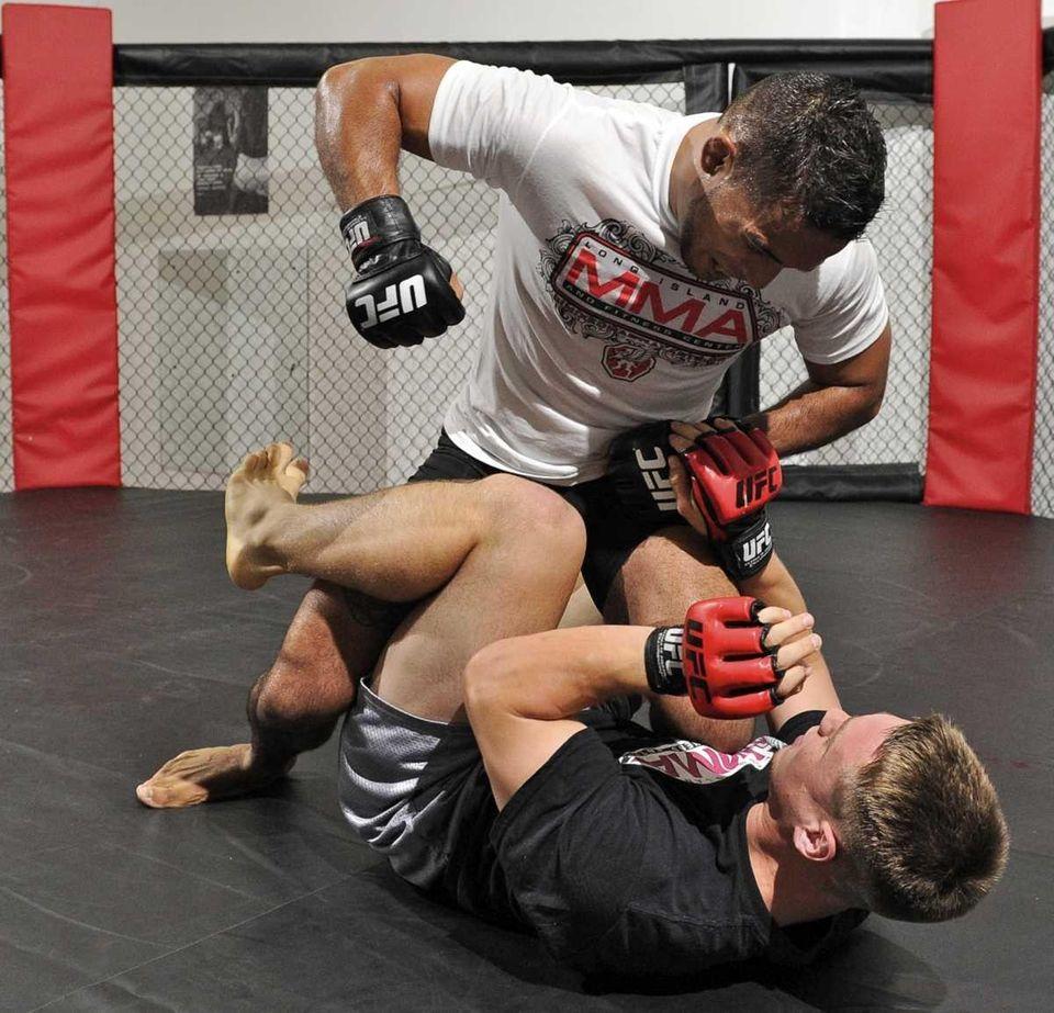 Dennis Bermudez, a mixed martial artist from Massapequa,