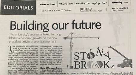An editorial about Stony Brook University's future in