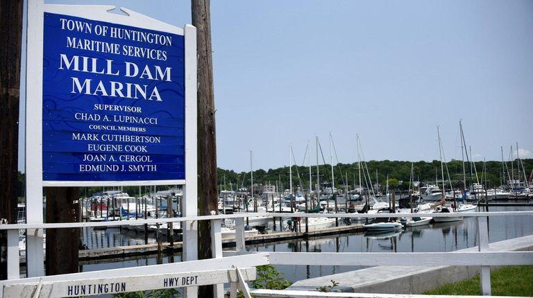 Huntington's Mill Dam Marina is seen on Friday.