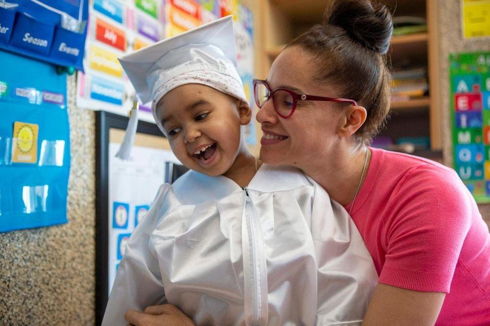 Zoefia Hamilton of Amityville gets ready for graduation