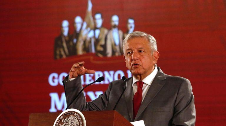 Mexican President Andrés Manuel López Obrador says he's
