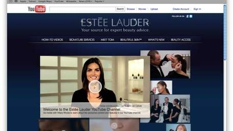 Estée Lauder enlists supermodels for YouTube launch