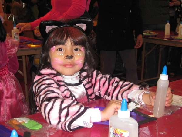 Young girl enjoying a Halloween event at the