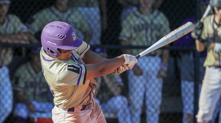 Alex Millwater #23 of Sayville drives in a