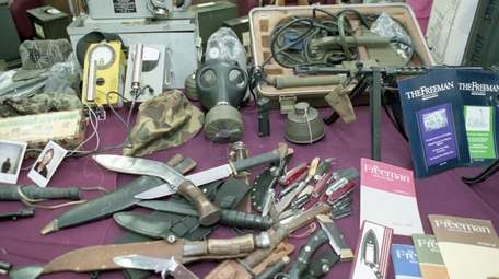 Knives, radiation counters and other items taken from