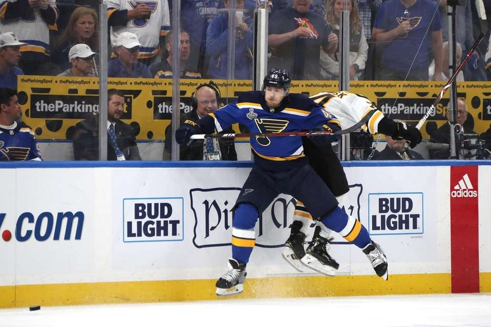 Ivan Barbashev #49 of the St. Louis Blues