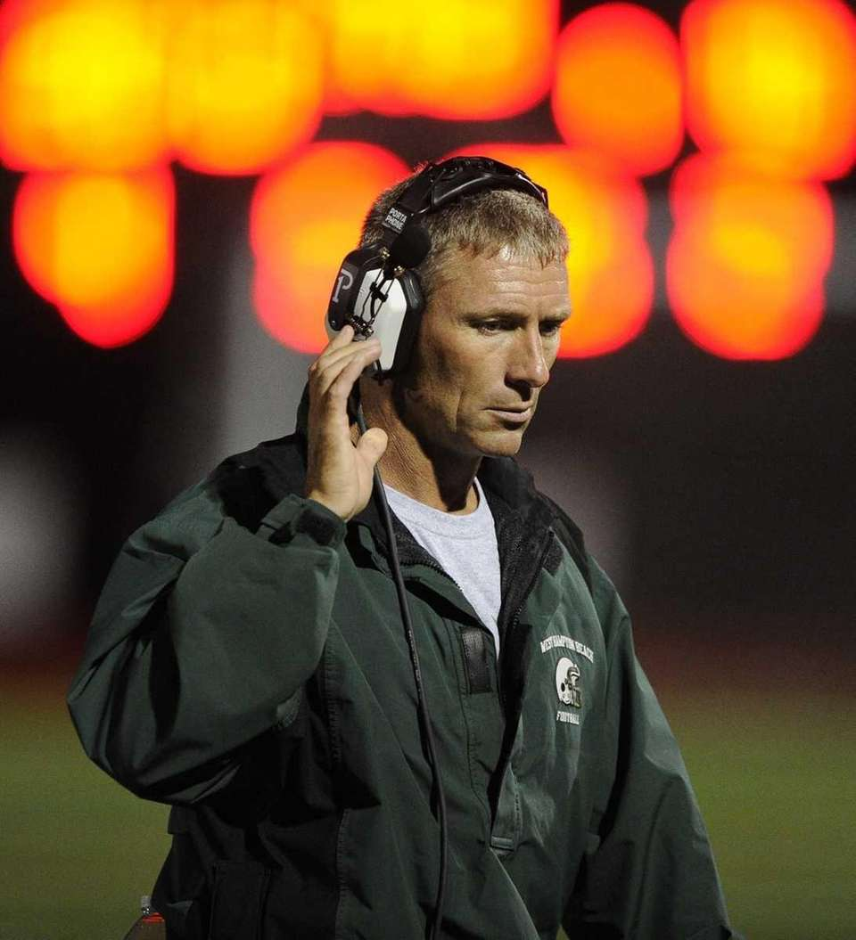 Westhampton head coach Bill Parry is seen on