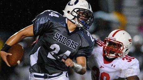 Oceanside High School running back #24 Justin Buckley,