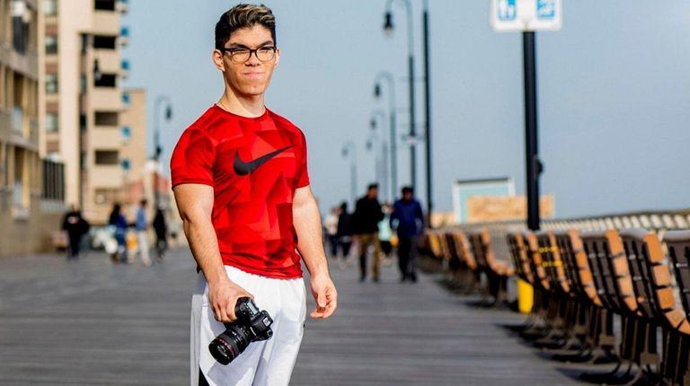 Charles Mandell, 18, a senior at Long Beach