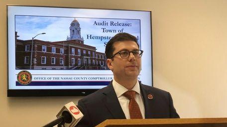 Nassau County Comptroller Jack Schnirman discusses an audit