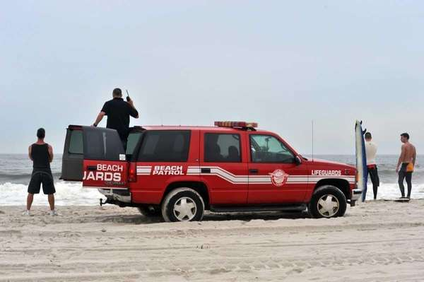 Rescuers search for a missing man in the