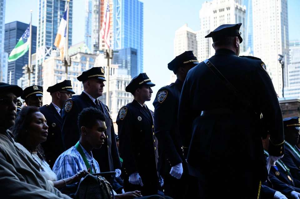 NYPD officers during the Medal Day Ceremony on