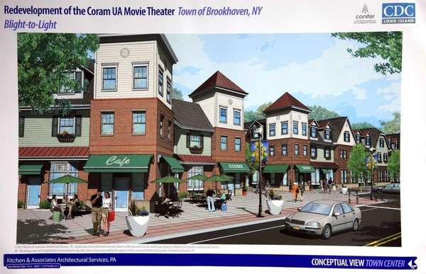 An artist's rendering shows the proposed redevelopment for