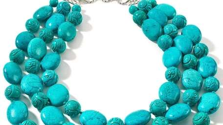 A turquoise-toned necklace, retailing for $149.95, from Rara