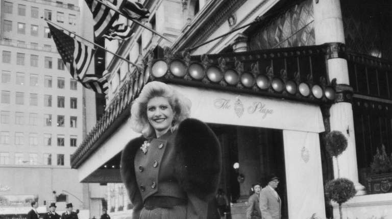 Ivana Trump outside the Plaza Hotel in 1988.
