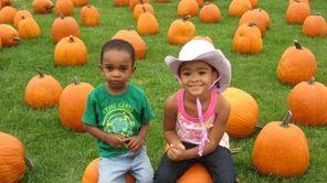 Amaya Reid, 4, and her brother DJ, 2,