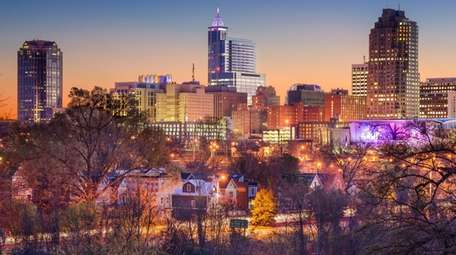 The skyline of Raleigh, N.C. Cheap fares from