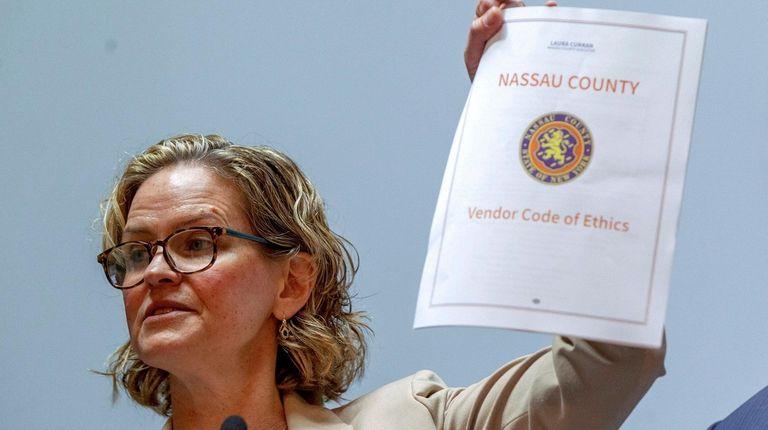 Nassau County Executive Laura Curran introduces a Vendor