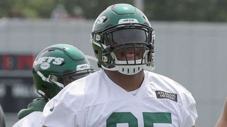 Jets defensive lineman Quinnen Williams during minicamp at