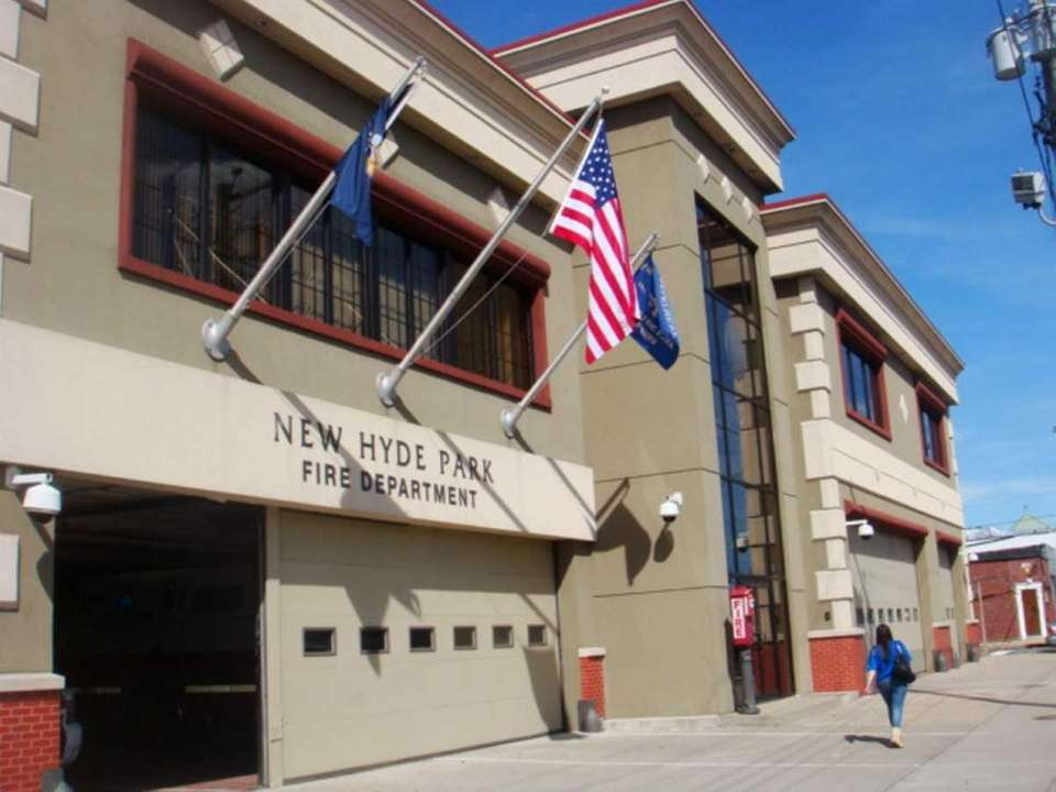 The New Hyde Park Fire Department is on