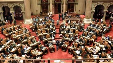 The Assembly chamber at the state Capitol in