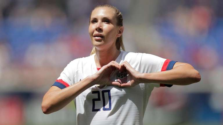United States midfielder Allie Long is introduced during