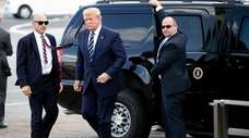 President Donald Trump arrives at Shannon Airport in