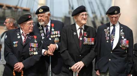 D-Day veterans gather during a D-Day commemoration event