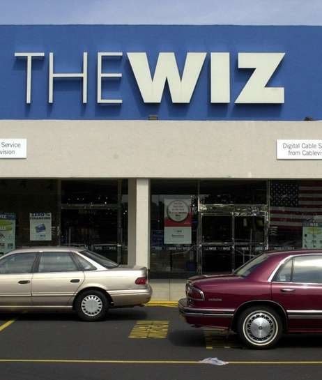 An exterior view of a Wiz store in