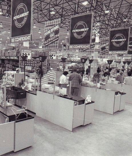The interior of the Pergament store in Westbury