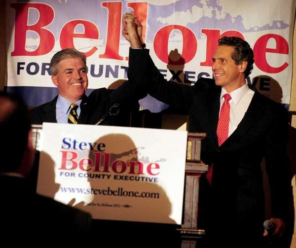 Gov. Andrew M. Cuomo endorsed Steve Bellone for