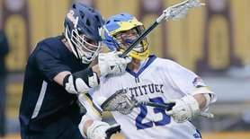 Mattituck's Ethan Schmidt tries to get around Briarcliff's