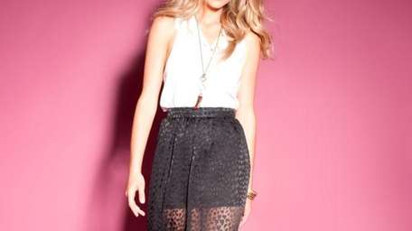 Sheer black maxi-skirt from the Rory Beca collection